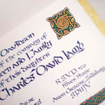 Celtic Style Wedding Invitation