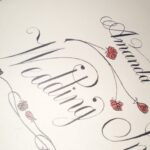 Decorated Copperplate Script Invitation