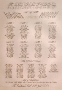Copperplate Script Seating Plan