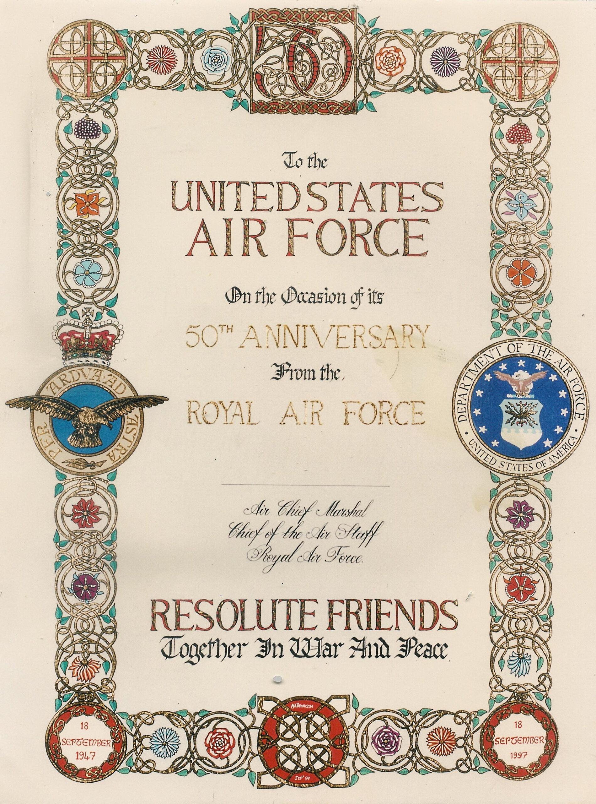 USAF 50th Anniversary website