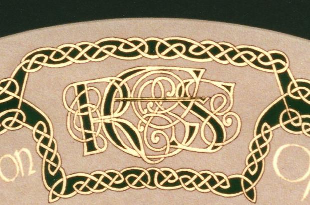 Aldridge Seating Plan Celtic Initials Motif WD